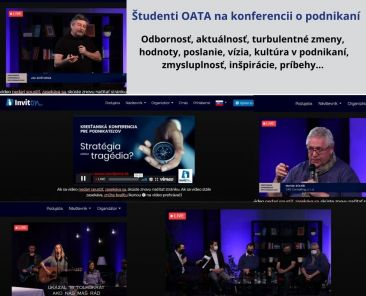 Študenti OATA na konferencii o podnikaní